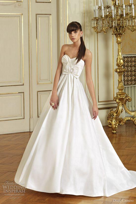 Best wedding dress collection lazaro fall 2012 princess for Oleg cassini champagne wedding dress