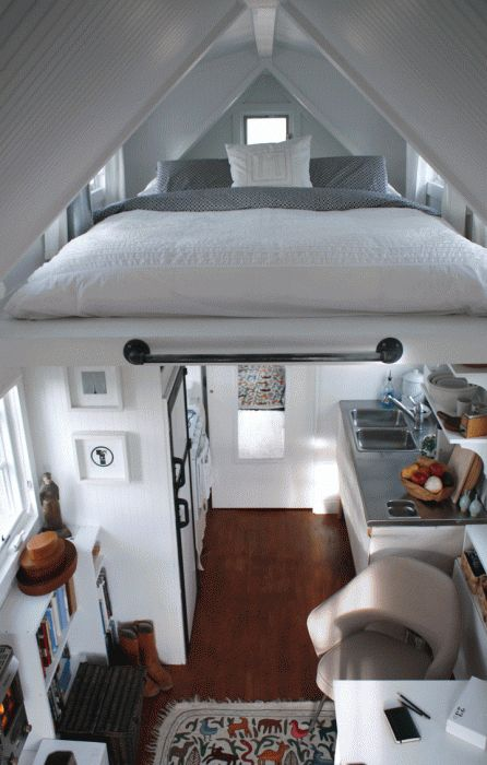 Bed in the attic... Amazing.