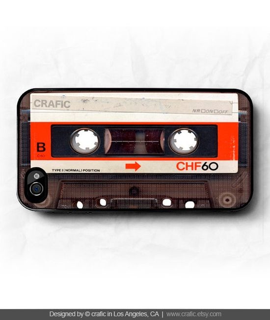 iPhone 4 case iPhone 4s case  Vintage Cassette Tape by CRAFIC, $16.99