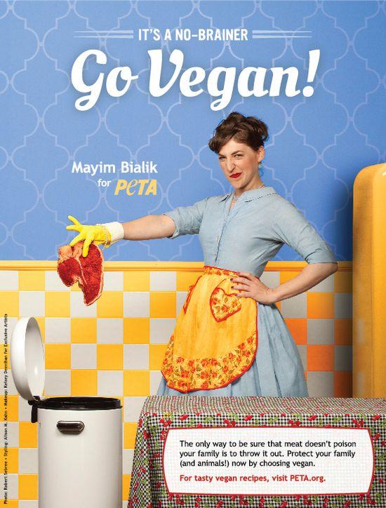 The Big Bang Theory's Mayim Bailik wants you to trash meat! Go Vegan!