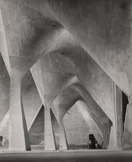 Iglesia de la Medalla Milagrosa, Mexico City, completed 1955 by Felix Candela, 1954 photo by Lola Alvarez Bravo