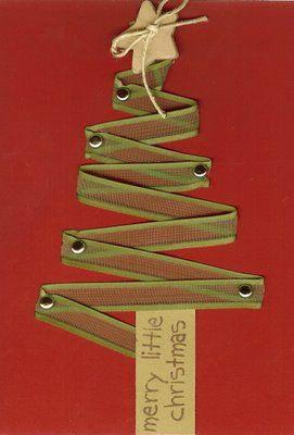 Ribbon card for christmas
