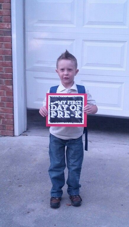 First day of school picture