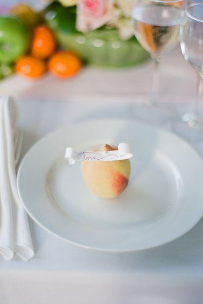peach place card