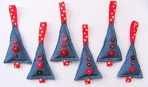 Denim Christmas Tree Ornament .....?