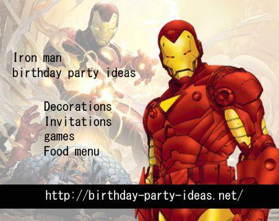 Iron Man Birthday Pa