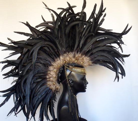 Mohawk headpiece by Caley Johnson