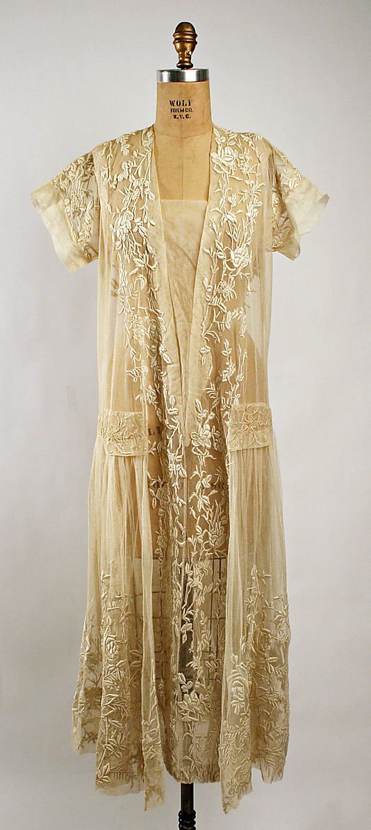 ~Embroidered cotton dress, c.1920~