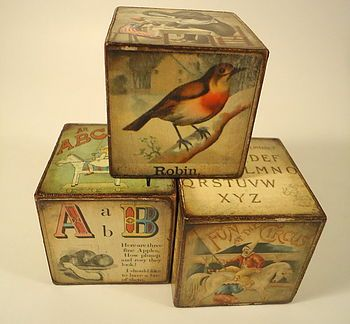 vintage nursery blocks
