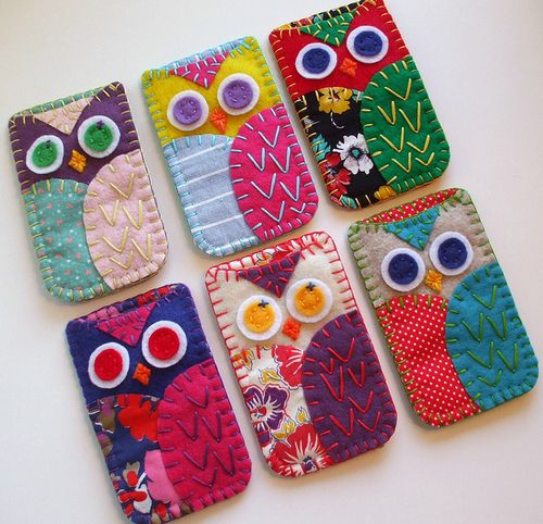 Owl phone covers....need to make these!!