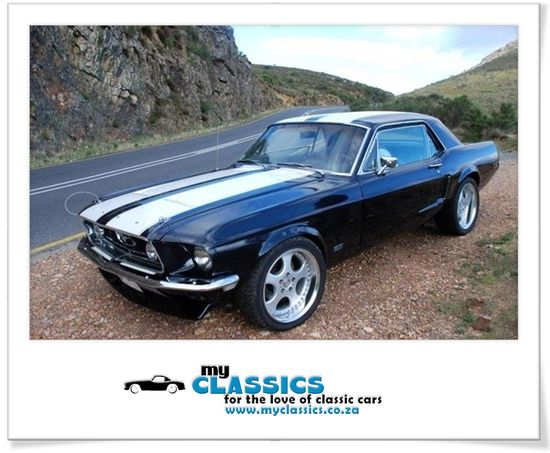 1968 Ford Mustang classic car. My boyfriend's exact car. Year, colors, everything. So awesome.