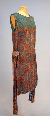 ~Beaded Devore Velvet Dance Dress, 1920s~