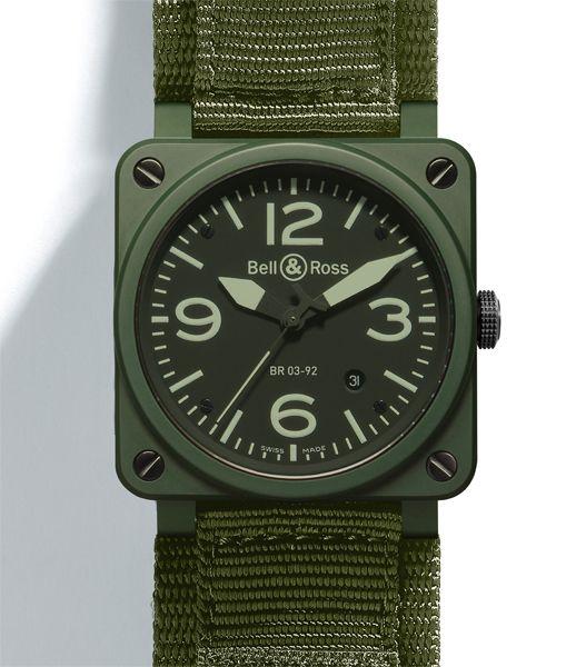 Bell & Ross khaki ceramic watch //