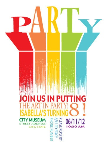 Art / Rainbow Party Invitation