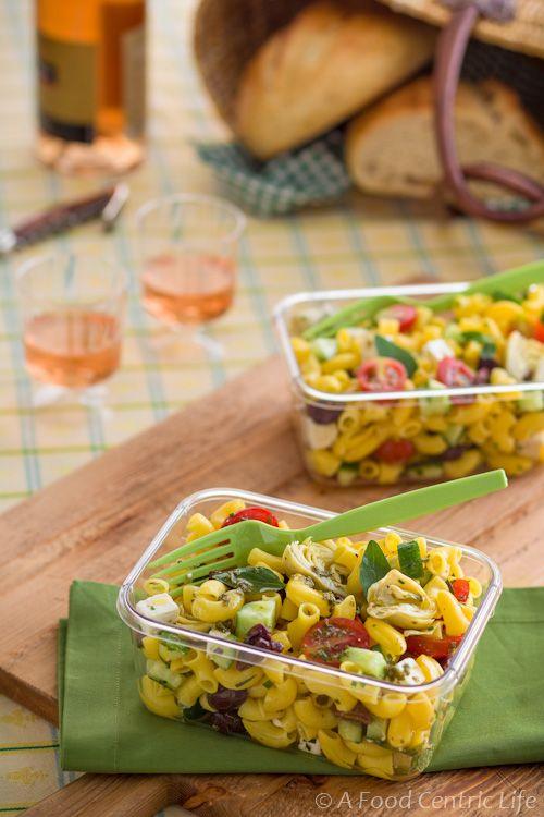 Greek Pasta Salad - Picnic Perfect!