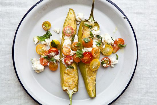 Polenta Stuffed Peppers