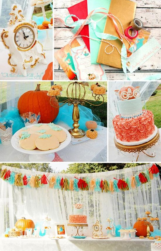 Vintage Cinderella Pumpkin Princess Party with Such Cute Ideas via Kara's Party Ideas