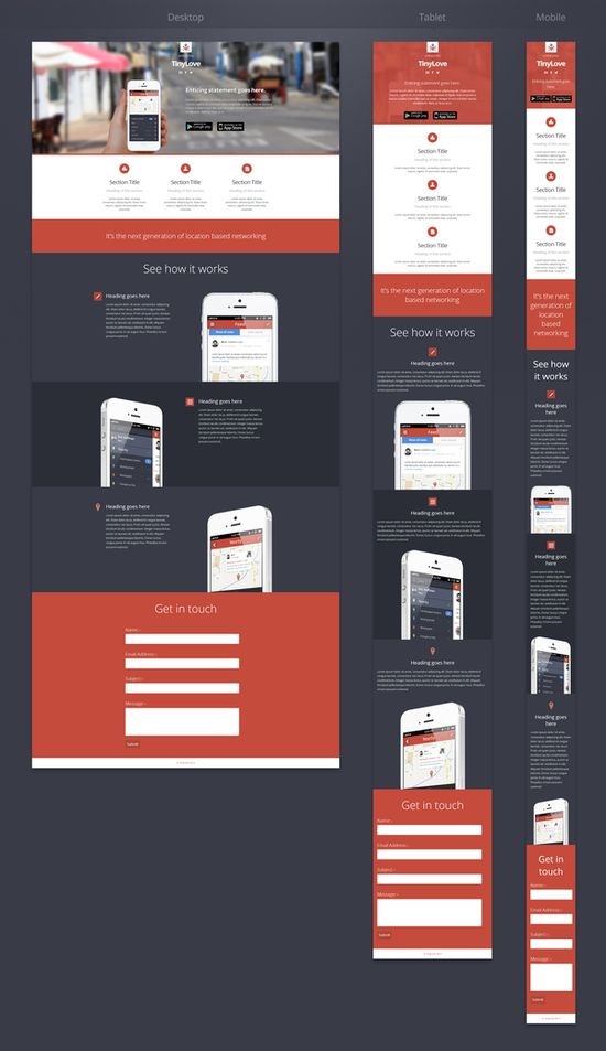 Responsive #ui #design #web #mobile
