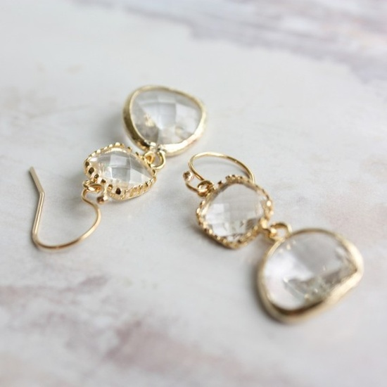 Romantic earrings by Ten Things. $44  aaaaa
