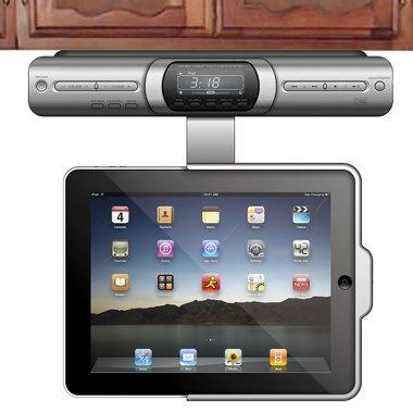 Under-counter iPad dock