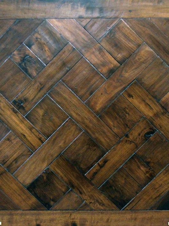 Basketweave hardwood floor