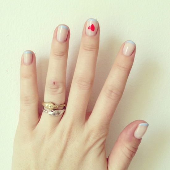 serpent rings + nail art = ?