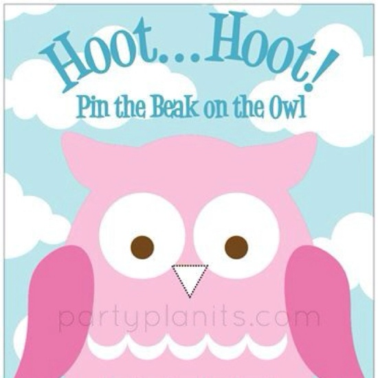 Owl birthday party game