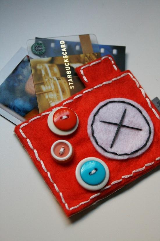 Orange Stitched Camera Gift Card Pocket #lwpsantographer