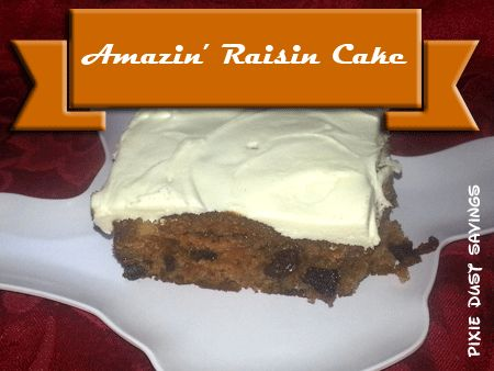 Amazin' Raisin Cake Recipe