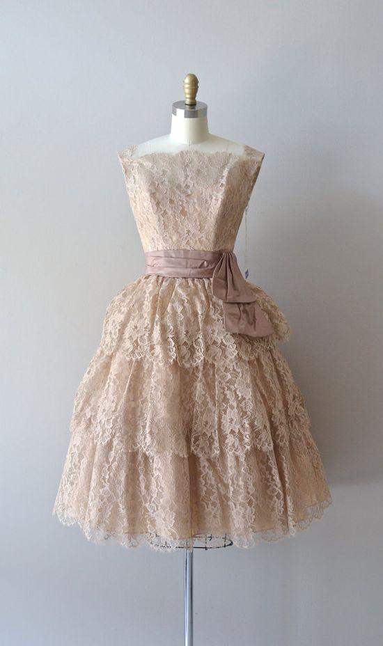 1950s lace party dress