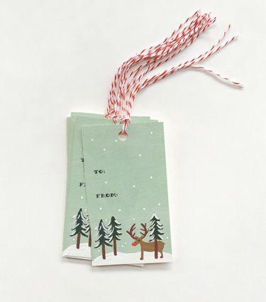 Rudolf Gift Tags