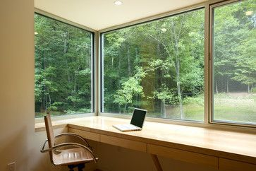 Contemporary Home Office Photos Windows And Doors Design, Pictures, Remodel, Decor and Ideas - page
