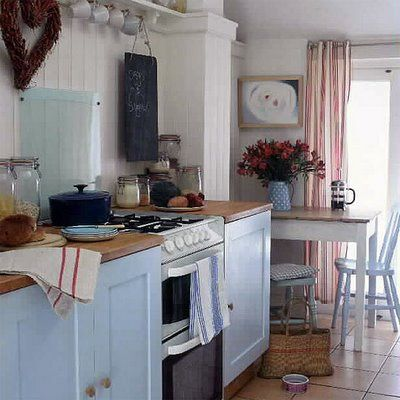 kitchen blue by Knitty, Vintage and Rosy, via Flickr
