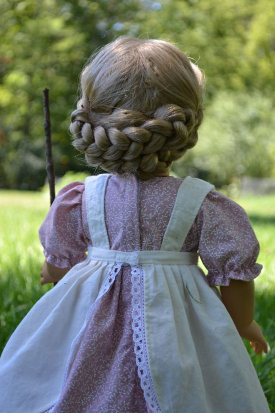Heidi Dress and Pinafore with Goat for American Girl 18 inch doll. via Etsy.