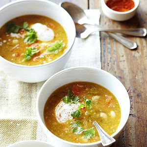 Mexican White Bean Soup - Turn to the pantry for a hearty and comforting soup packed with beans, vegetables, and spices.