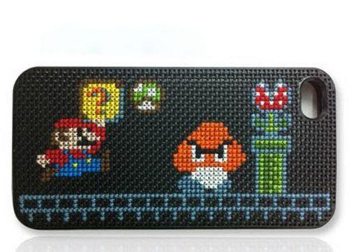 Carcasa de iPhone DIY personalizada con motivos de Mario Bross