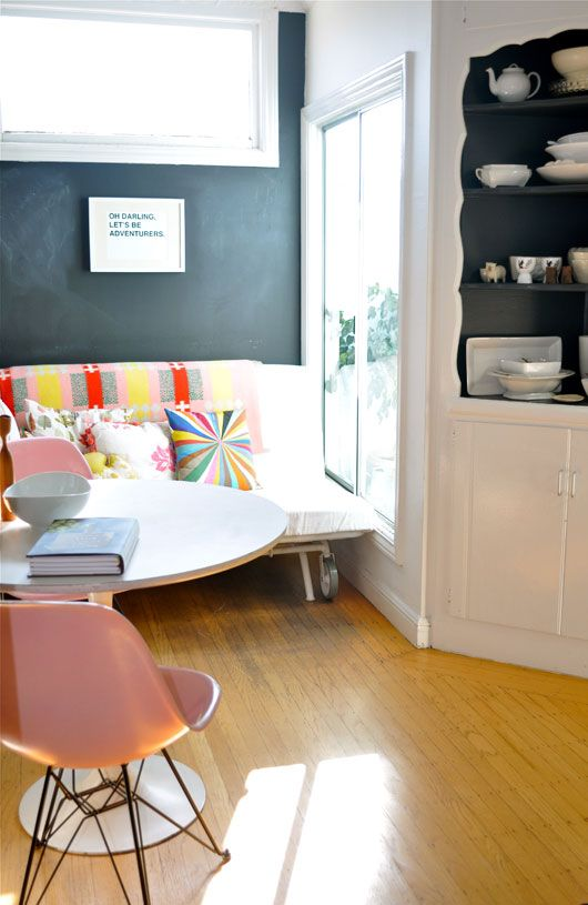 sofa nook and chalkboard paint