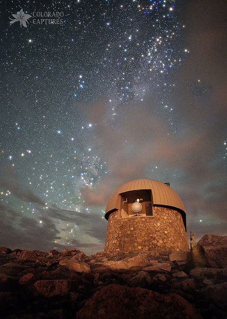 Milky Way Clouds Over The Mount Evans Observatory, Colorado