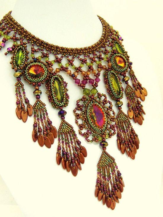 Bollywood Beauty Set by HauteIceBeadwork on Etsy, $995.00