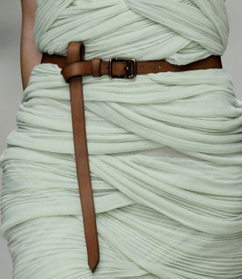Love the texture and belt together!