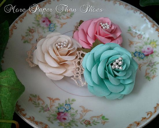 Handmade Paper Flowers - French Kiss
