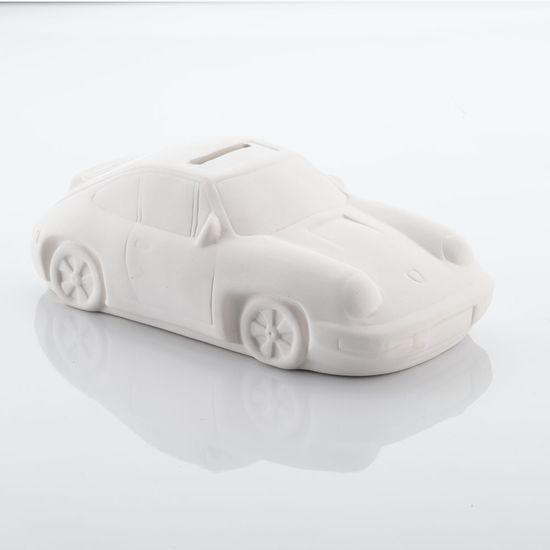 Ceramic Sports Car Money Box ready for