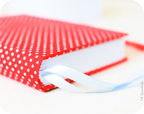 Red polka dot  handmade notebook diary journal by Buntmal on Etsy, $36.00