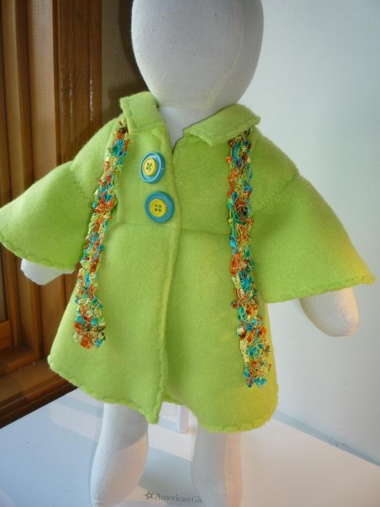 American Girl doll Fleece Coat with scarf.