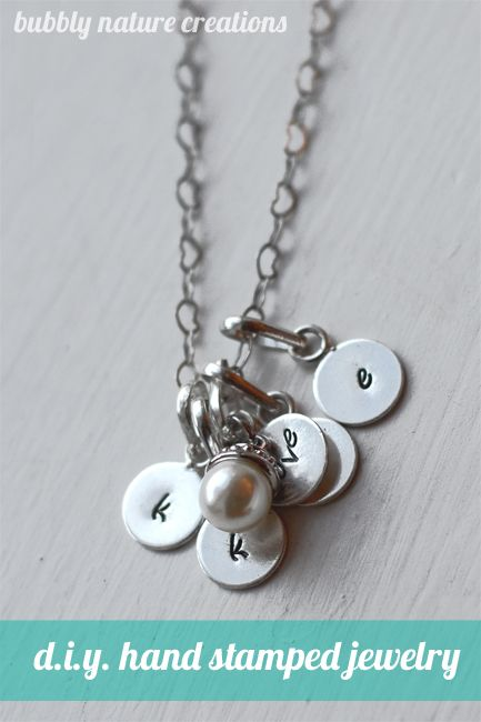 D.I.Y. Hand stamped Jewelry!  All products used can be found in the jewelry section @Hobby Lobby