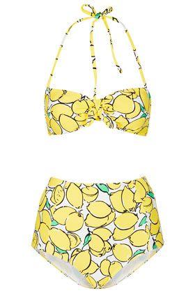 Yellow Lemon Bandeau Bikini