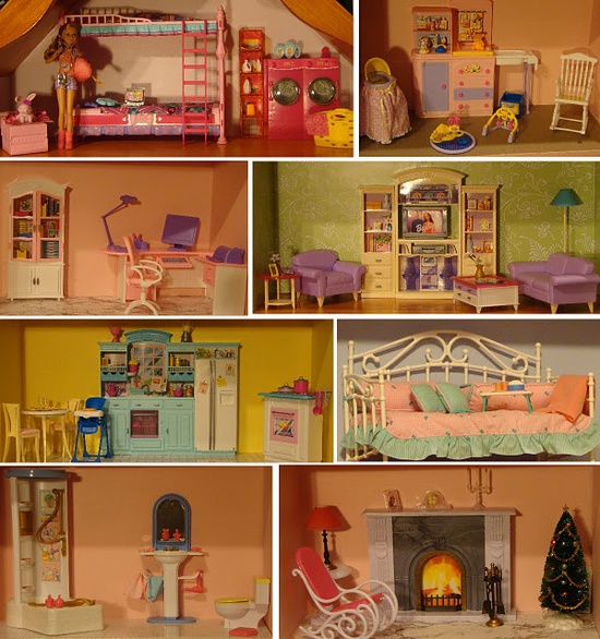 Barbie house. I would have loved this as a child. I actually had the daybed on the second floor.
