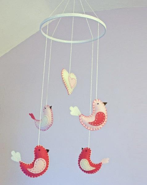 Birds nursery mobile