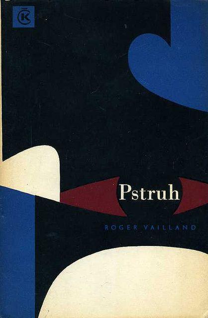 Slovak book cover, 1966, Roger Vailland - Pstruh