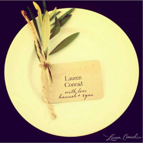 gorgeous place setting...especially using a rosemary sprig to add a wonderful scent too!
